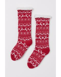 Cosy 1p Lounge Sock Red