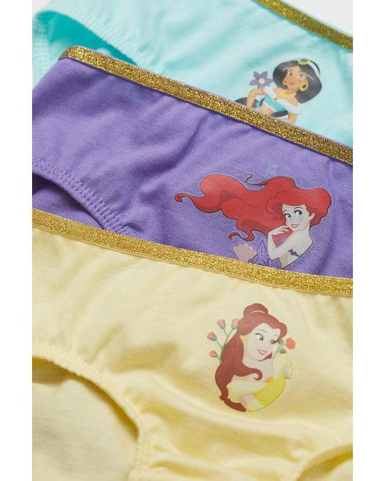 H&M 7-pack Cotton Briefs Light Yellow/disney Princesses
