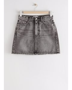 Mini-Jeansrock Grau