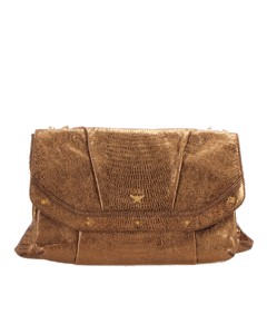 Mcm Leather Chain Shoulder Bag Brown