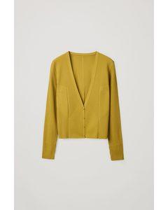 Ribbed Cardigan Yellow