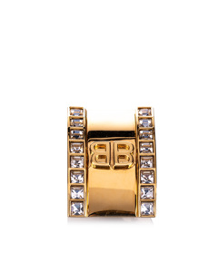 Balenciaga Logo Clip Ear Cuff Gold