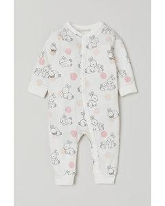 Pyjamapakje Met Dessin Wit/konijnen
