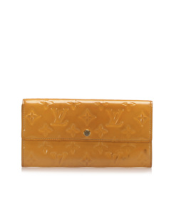 Louis Vuitton Vernis Sarah Long Wallet Orange
