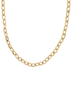 Chain Linked Halsband Large 40 Cm Gold