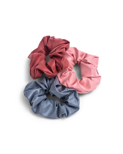 3-pack Leather Look Scrunchies Multi