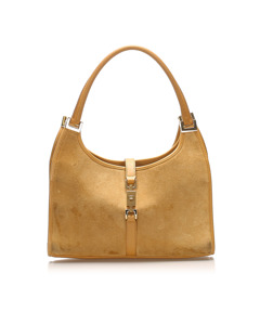 Gucci Jackie Suede Shoulder Bag Brown