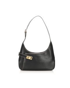 Ferragamo Leather Shoulder Bag Black