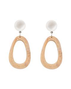 Essie Resin Earring B Beige