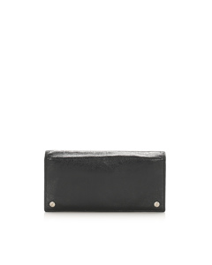 Balenciaga Leather Long Wallet Black