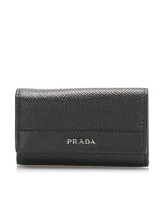 Prada Saffiano Key Case Black