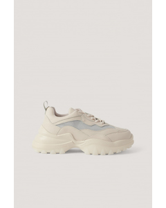 Milky Rubber Sole Trainers Beige