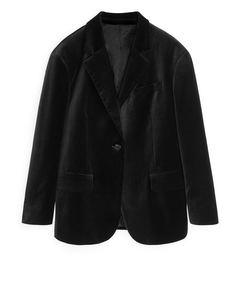 Velvet Blazer Black