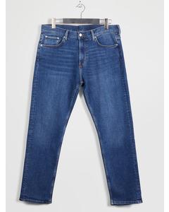Easy Regular Straight Jeans Mid Blue