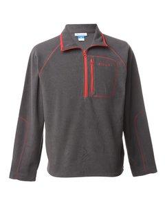 1990s Columbia Zip Front Fleece Sweatshirt