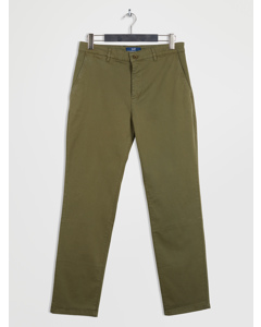Gaston Chino Pants Slim Oil Green