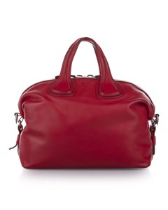 Givenchy Nightingale Leather Satchel Red