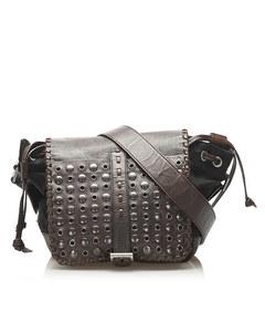 Prada Gromment Tessuto Crossbody Bag Black