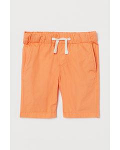 Bomullsshorts Orange