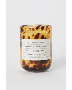 Doftljus I Glasbehållare Brun/bamboo