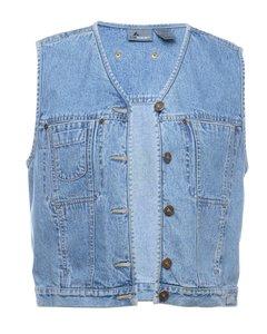 1990s Petites Sleeveless Denim Jacket