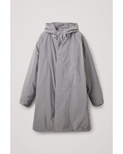 Down Lined Waterproof Coat Light Grey