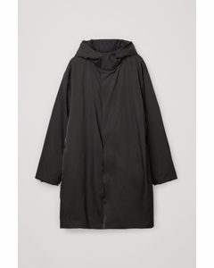 Down Lined Waterproof Coat Black