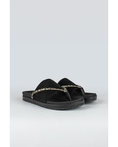 Strict W Suede Shoe Black