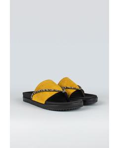 Strict W Suede Shoe Ocre