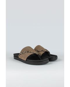 Strict W Suede Shoe Stone