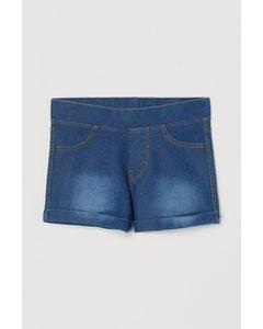 Shorts im Denimlook Blau