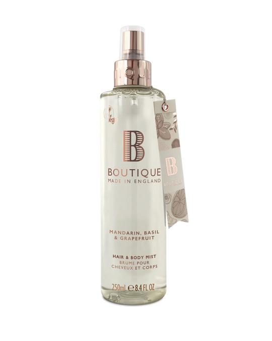 Boutique Boutique Mandarin, Basil & Grapefruit Hair & Body Mist 250ml