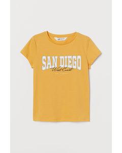 Jerseyshirt mit Druck Gelb/San Diego
