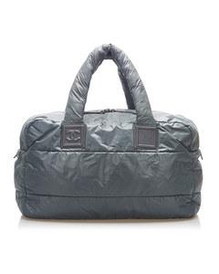Chanel Cocoon Nylon Tote Bag Gray
