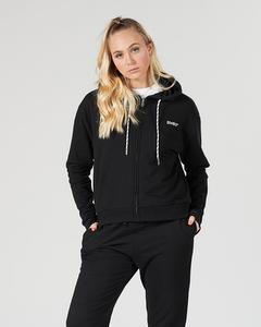 Svea Small Logo Zip Hood Black
