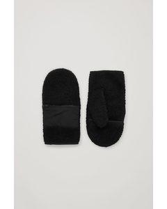 Teddy Gloves Black