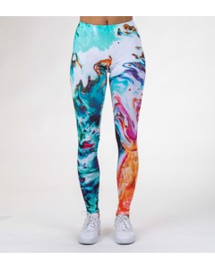 Mr. Gugu & Miss Go Abstract Painting Leggings Breeze Blue