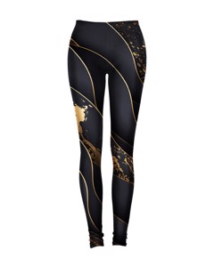 Mr. Gugu & Miss Go Black And Gold Leggings Unique Gold