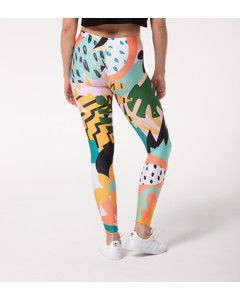 Mr. Gugu & Miss Go Tropical Abstract Leggings Smooth Rainbow