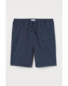 Shorts I Bomull Marinblå