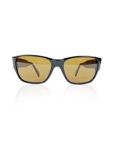 Persol Black Vintage Rectangular Mint Sunglasses Mod. 865 56/17 142 Mm