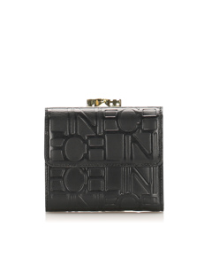 Celine Leather Small Wallet Black