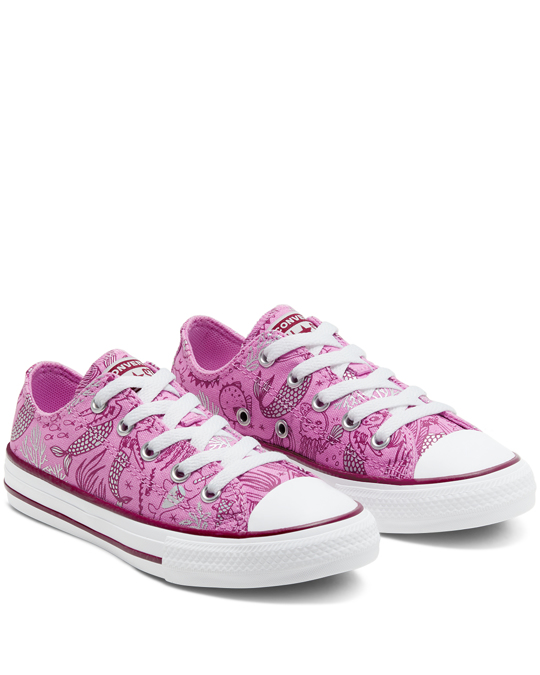 Converse Ctas Ox Kids Peony Pink/rose Maroon
