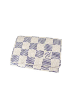 Louis Vuitton Damier Azur Enveloppe Cartes De Visite White
