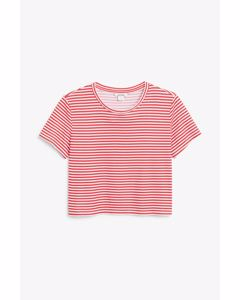 Cropped tee Red stripes