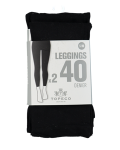 Leggings 2p Solid 40 Denier Black