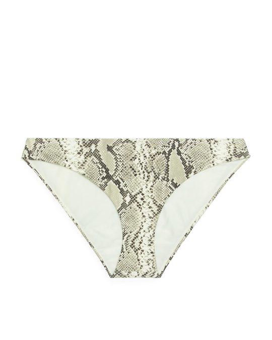 Arket Bikinihose Beige/Animalprint