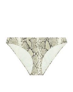 Bikinihose Beige/Animalprint