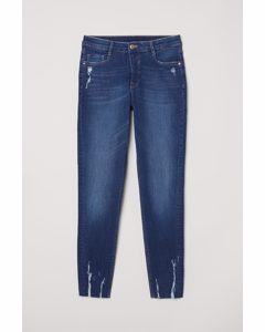 Skinny Regular Ankle Jeans Denimblauw