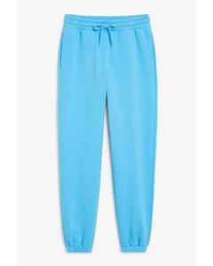 Cotton Sweatpants Blue